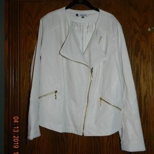 Women's Jennifer Lopez White Jacket